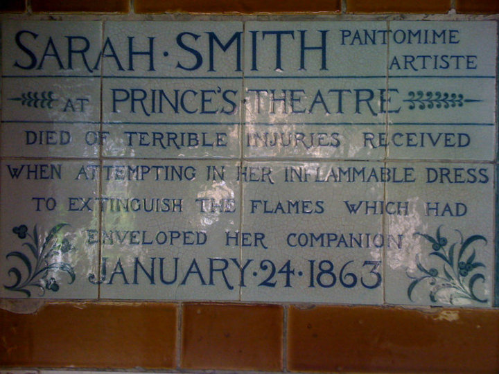 Sarah Smith's plaque in Postman's Park, London.