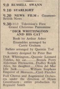 BBC's First TV panto